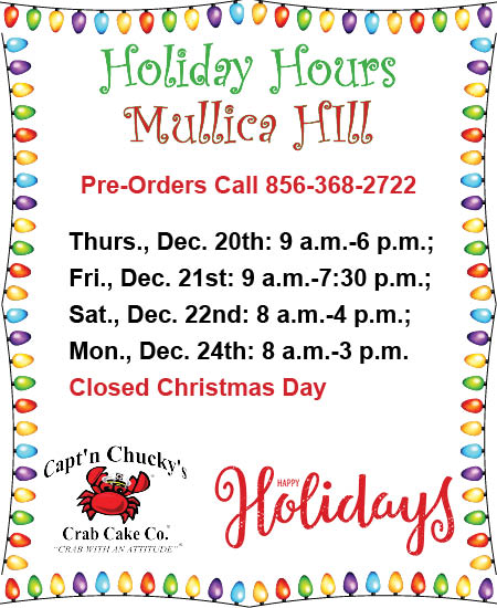 holiday hours 2018 mullica